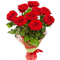 9 Red Roses Bouquet