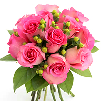 Cheerful 9 Pink Roses Bouquet