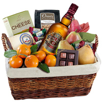 Luxury Chivas Regal, Fresh Fruits N Cheese Gift Basket To Kamogawa