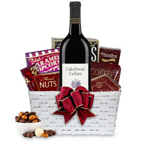 Marvelous Gourmet and Rose Wine Gift Basket To