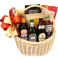 Amazing Beer and Snacks Gift Basket