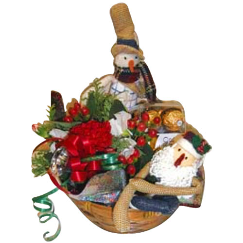 Remarkable Christmas Decorations Gift Basket To