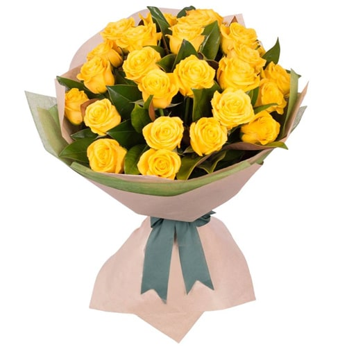 Captivating Two Dozen Yellow Roses To Kanazawa
