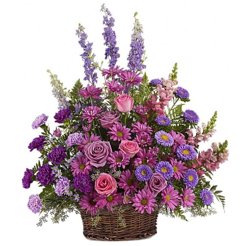 Lovely Basket of Multicolored Flower To