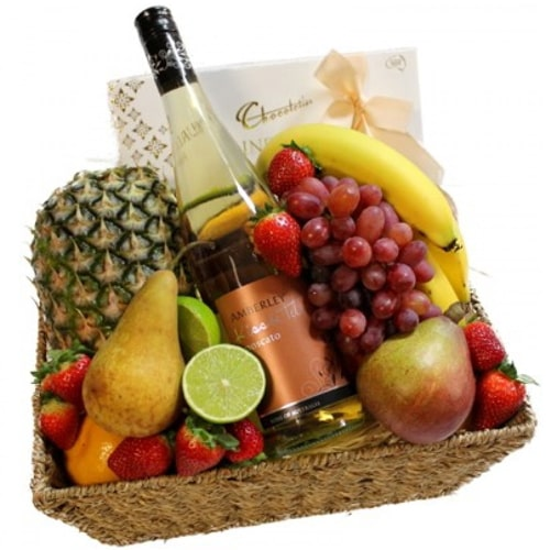 Scrumptious Friends Forever Fresh Fruits with Vintage Wine To