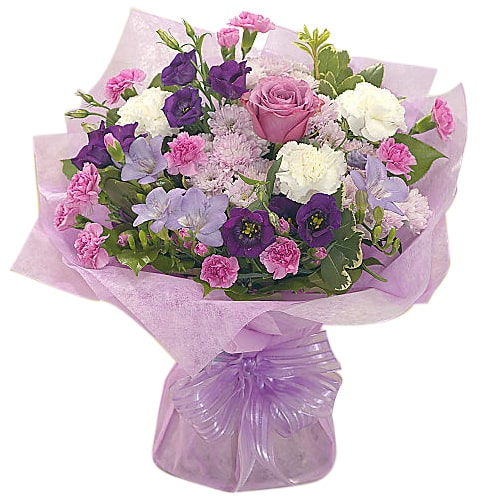 Classic Bouquet of Roses and Seasonal Flowers with Passion To