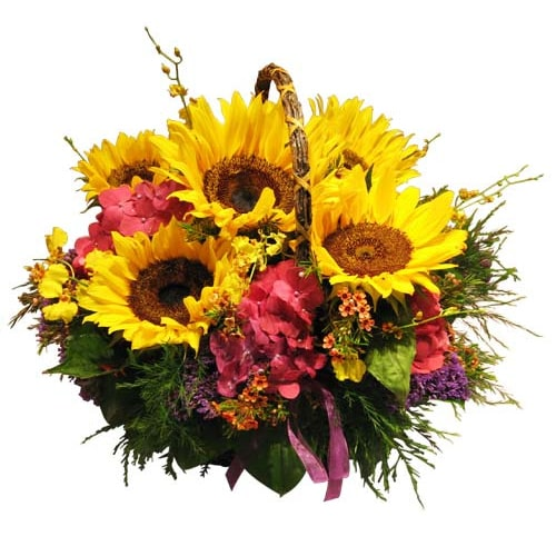 Artistic Mixed Seasonal Flowers To