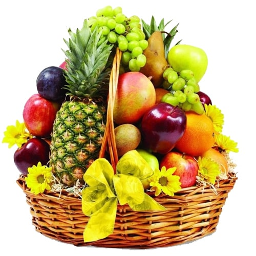 Refreshing Mixed Delicious Fruits Filled with Happiness
