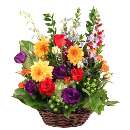 Beautiful Arrangement of Fresh Seasonal Flowers