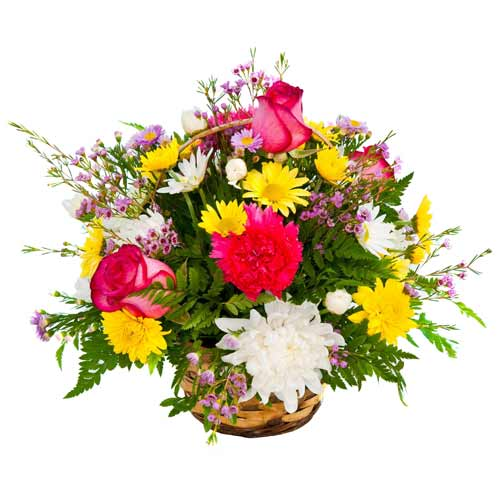Mesmerizing Seasonal Flower Basket To