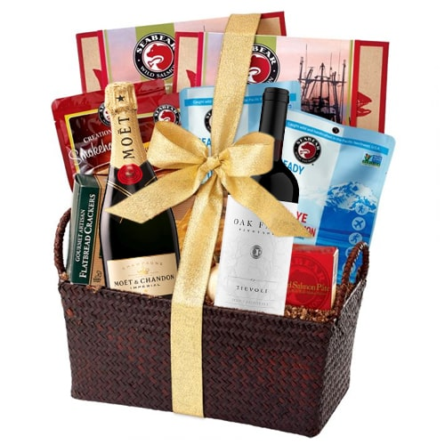 Vibrant Party Special Gourmet Hamper with Champagne To