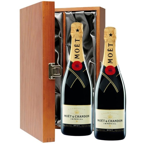 Bright 2 Bottles Moet Chandon Champagne on the Eve of Special Occasion