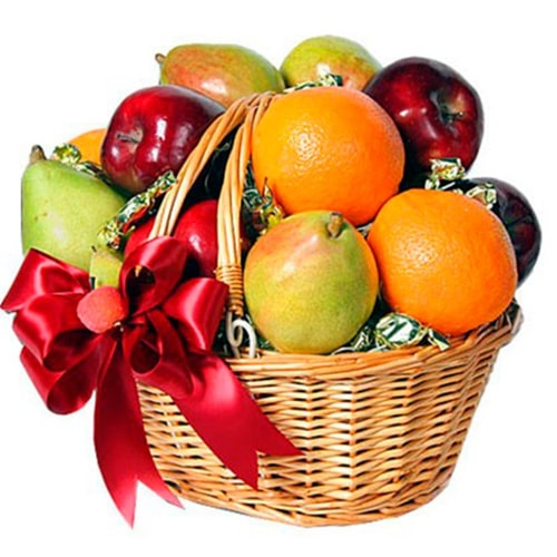 Tantalizing Seasons Greetings Mixed Fruits Basket To