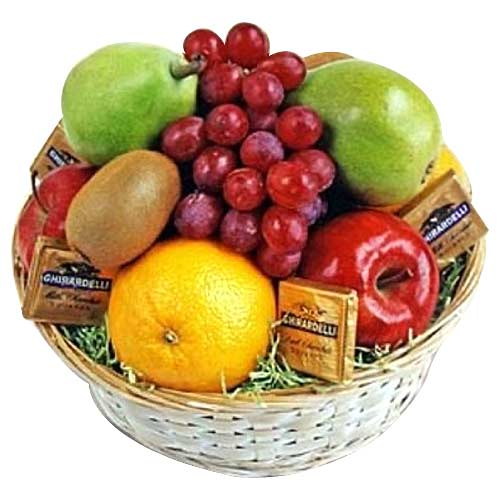 Seasonal Fruits and Tasty Chocolates Treat