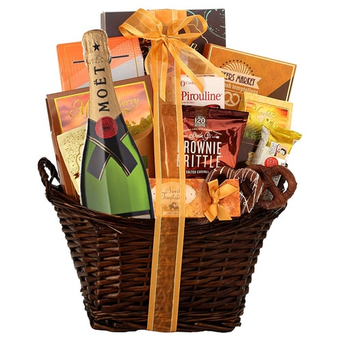 Joyful Heart of Love Gourmet Hamper with Champagne To