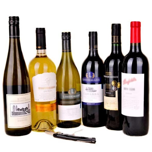 Wonderful 6 bottles of Wine with Wine Pack