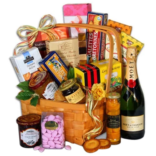 Gorgeous Cheerful Wishes Gift Basket To