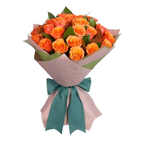 Classic Twelve Orange Roses To