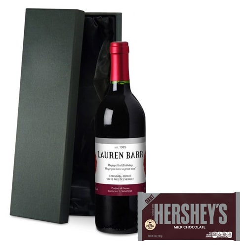 Effervescent French Wine with Hershey's Chocolate