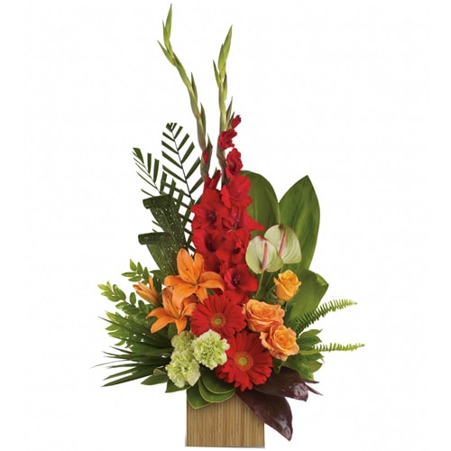 Exquisite Loving Surprise Treasured Mix Floral Basket To
