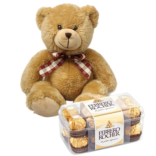 Lip-Smacking Ferrero Rocher Chocolates with a Cute Teddy