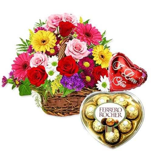 Glorious Flowers, Chocolates n Balloon