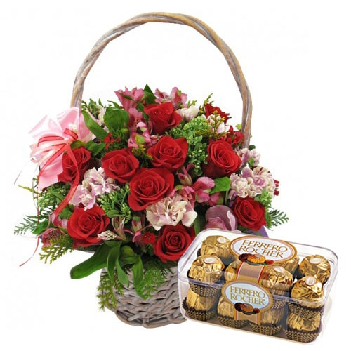 Soft Gift Basket with Mesmerizing Charm To