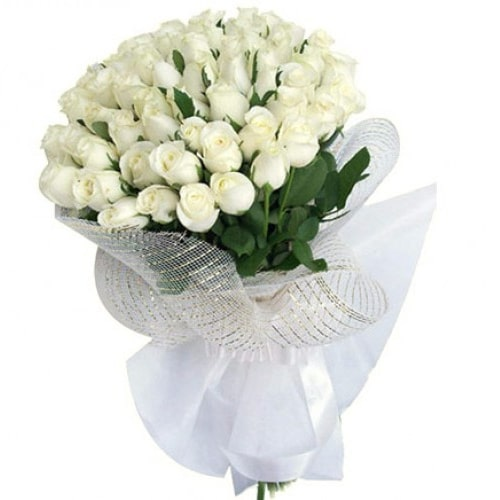 Charming Memories to Cherish 36 Fresh White Roses To Iwate