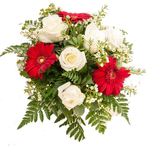 Charming Bouquet of Seasonal Flowers with Smiles and Hugs To