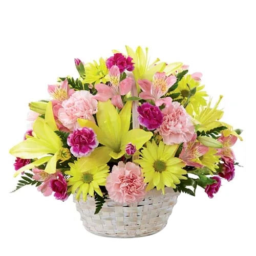 Jewel-Toned Cheerful Wishes Seasonal Flowers Basket To Miyazaki