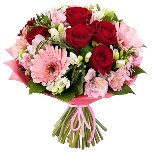 Traditional Love Surprises Seasonal Flower Bouquet To