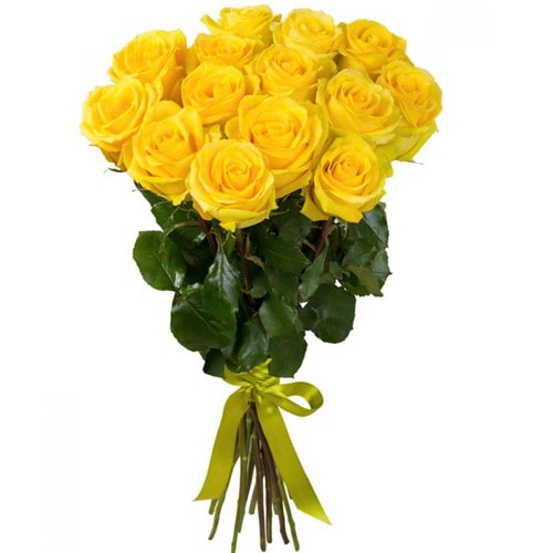 Eye-Catching Colorful Hue Yellow Roses Bouquet To