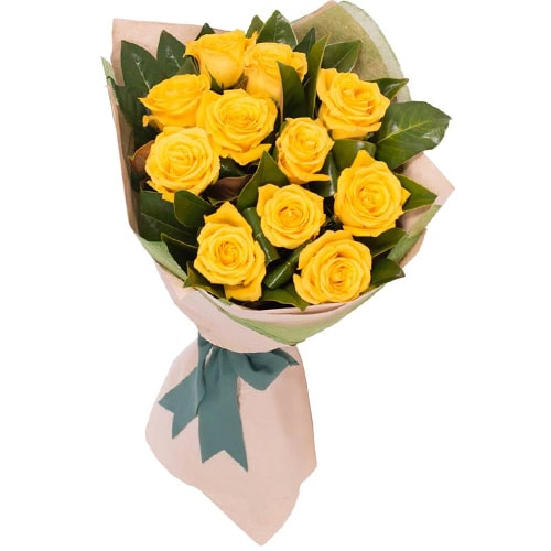 Blushing 12 Orange Roses Bouquet with Fond Affection