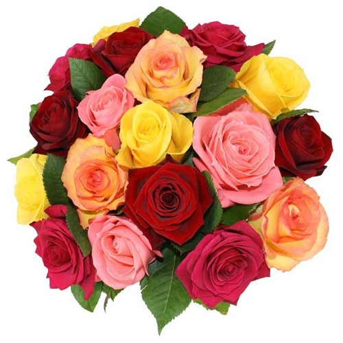 Spectacular Moments to Cherish Mixed Roses Arrangement
