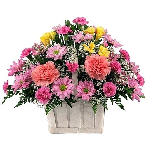 Magnificent Sweet Moments Seasonal Flower Basket To